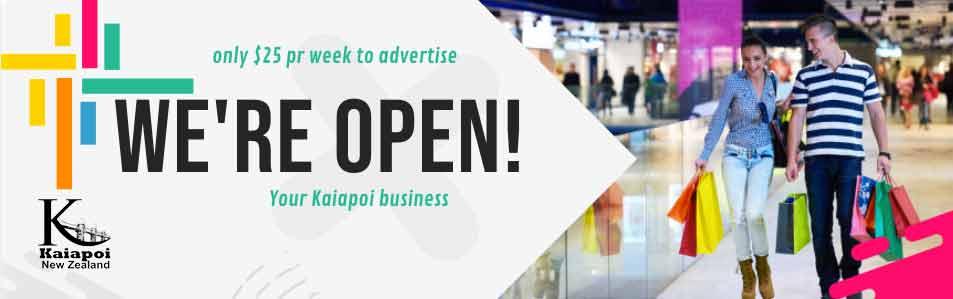 Kaiapoi - We Are Open